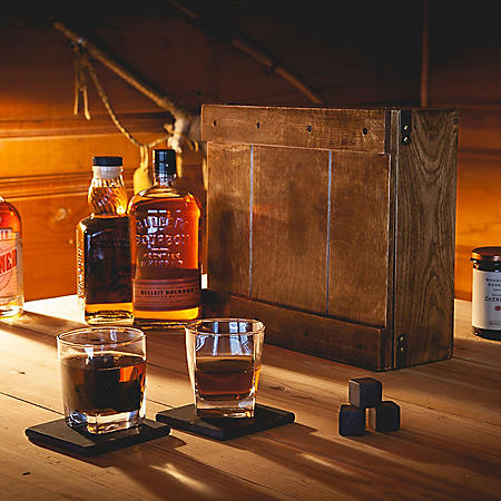 Oak Box Whiskey Gift Set for Two