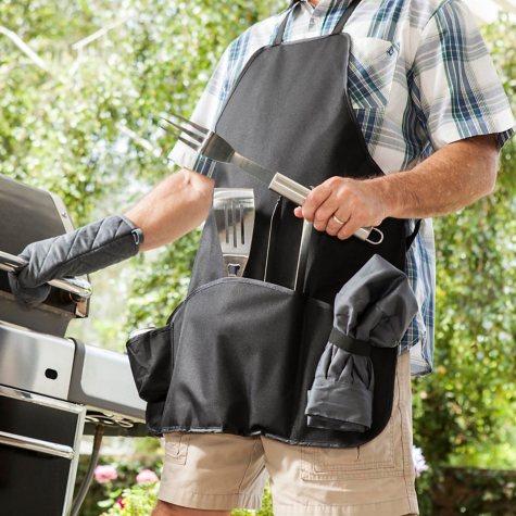 Grilling Master Apron & Tools
