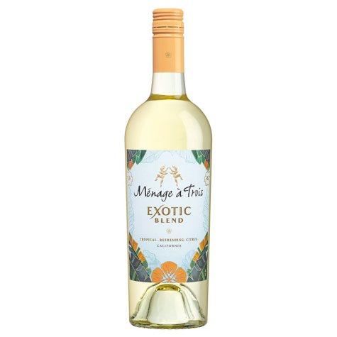 Menage a Trois California White Wine (750 ml)