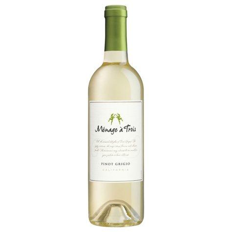 Menage a Trois California Pinot Grigio (750 ml)