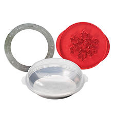 Nordic Ware 4-Piece Pie Baking Kit with Decorative Crust Cutter (Leaves/Apples)