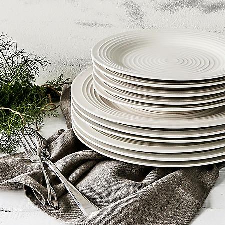 12-Piece Farmhouse Plates Set (Assorted Colors)