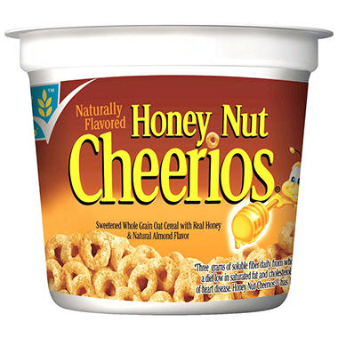 General Mills Honey Nut Cheerios Cereal (2 oz. cups, 12 ct.)
