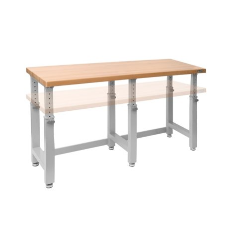 "UltraHD 72"" Adjustable Height Heavy-Duty Wood Top Workbench"