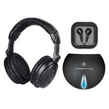 Wireless TV Listening Headphones-Black