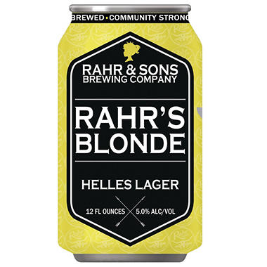 Rahr & Sons Rahr's Blonde Lager (12 fl. oz. can, 6 pk.)