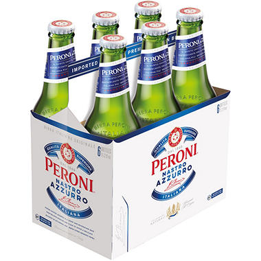 Peroni Nastro Azzurro Beer (11.2 fl. oz. bottle, 6 pk.)