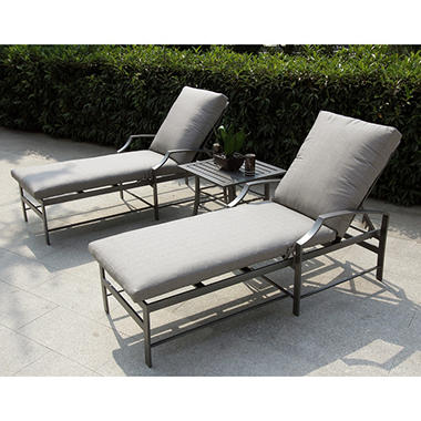 Playa Caleta  3 pc Chaise Set