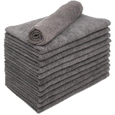 Bleachsafe® Salon Hand Towels - 24 pk. - Gray