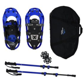 "Mountain Tracks Pro Series 16.5"" Youth Snowshoe Set, Blue"