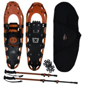"Mountain Tracks Pro Series 28"" Snowshoe Set, Orange"
