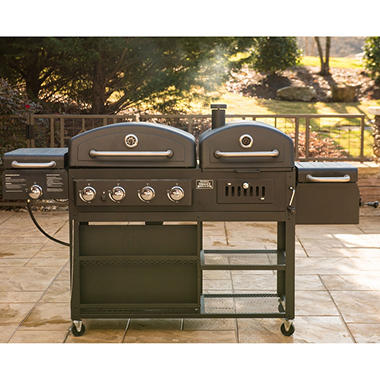 Smoke Hollow Pro Series 4 In 1 Gas Amp Charcoal Combo Grill