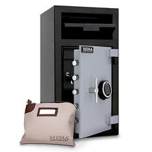 Mesa Safe Depository Safe with Interior Locker, 1.3 Cubic Feet