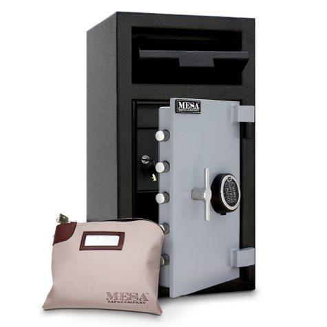 Mesa Safe Depository Safe with Interior Locker, 1.3 Cubic Feet