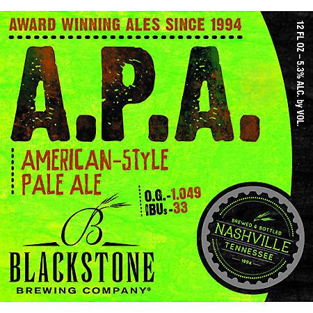 Blackstone A. P. A. (12 fl. oz. bottle, 6 pk.)
