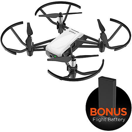 DJI Tello Quadcopter Drone with HD Camera Bundle (Drone & Bonus Battery)