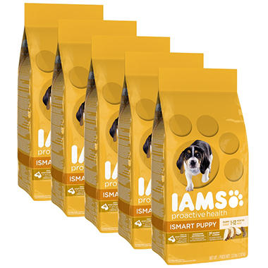 Iams Puppy Proactive Health Smart Puppy Chicken Dry Dog Food (3.3 lbs., 5 pk.)