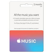 12 months Apple Music card