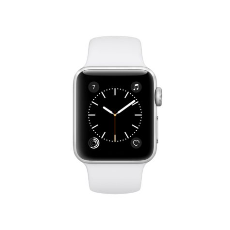 Apple Watch Series 2 - 38mm Silver Aluminum Case - White Sport Band