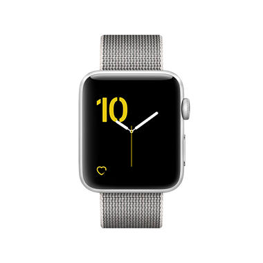 Apple Watch Series 2 - 38MM Silver Aluminum Case - Pearl Woven Band