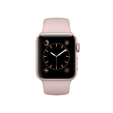 Apple Watch Series 2 - 38mm Rose Gold Aluminum Case - Rose Gold Sport Band