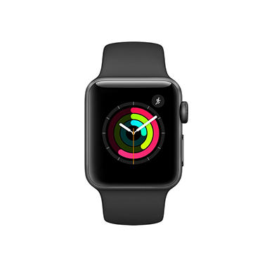 Apple Watch Series 2 - 42mm Gray Aluminum Case - Black Sport Band