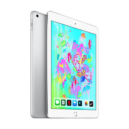 Apple iPad (2018 Model) Wi-Fi 128GB (Silver)