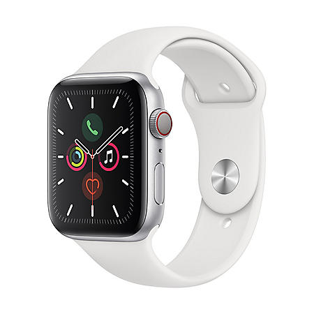 Apple Watch Series 5 GPS + Cell Silver with White Band (Choose Size)
