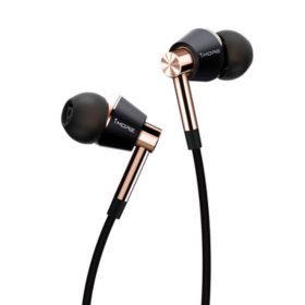 1MORE Triple Driver In-Ear Headphones with Smart Microphone and Remote - Gold