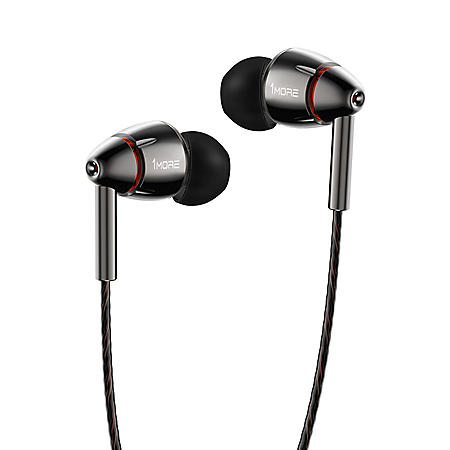 1MORE Quad Driver In-Ear Headphones with Smart Microphone and Remote - Titanium