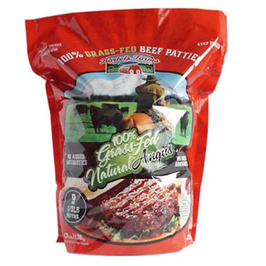 Bartels Farms 100% Grass-Fed Natural Angus Beef Patties (9 ct.)