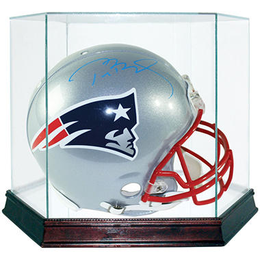 Tom Brady New England Patriots Full Size Signed Helmet w/ Display Case