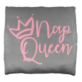 """""""Nap Queen"""" Phrase Cloud Pillow (24"""" x 24"""")"""