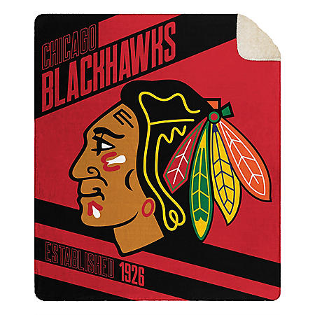"""Officially Licensed NHL Cloud Throw Blanket with Sherpa Back, 60"""" x 70"""" (Assorted Colors)"""