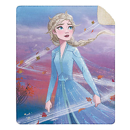 "Frozen Cloud Throw Blanket with Sherpa Back, 50"" x 60"" (Various Designs)"