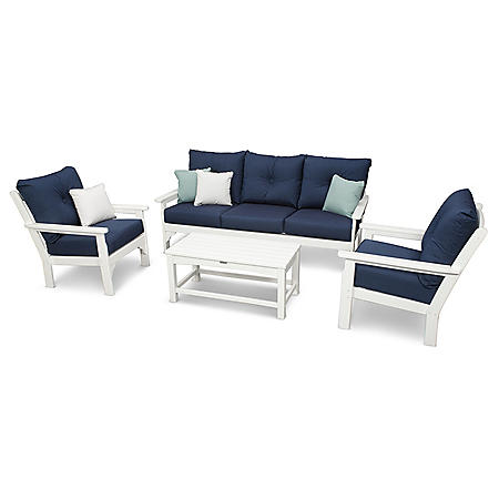 Classics 4-Piece Sofa Seating Set by Ivy Terrace  (Various Colors)