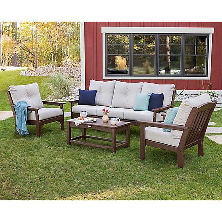 Classics 4-Piece Sofa Seating Set by Ivy Terrace, Mahogany/Cast Ash