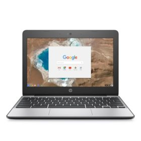 "HP HD 11.6"" Chrome Notebook, Intel Celeron N3060 Processor, 4GB Memory, 16GB Hard Drive, HD Webcam, Chrome OS"