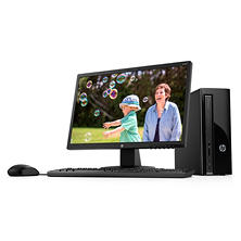 "HP Desktop Bundle with 22"" Monitor, Intel Core i3-7100 Processor, 8GB Memory, 1TB Hard Drive, Windows 10, with Keyboard and Mouse"