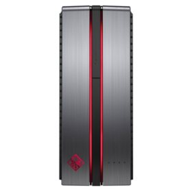 HP Omen Desktop Tower, Intel Core i7-7700, 16GB Memory, 1TB + 256GB SSD Hard Drive, NVIDIA GeForce GTX 1060 Graphics Card, Wired Keyboard and Optical Mouse, Windows 10 Home