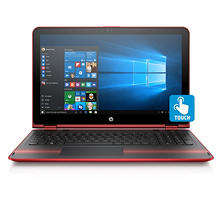 "HP Pavilion Touchscreen 2-in-1 Convertible 15.6"" HD Notebook, Intel Core i5-7200U DC Processor, 8GB Memory, 500GB Hard Drive + 8GB SSD Hard Drive, Backlit Keyboard, HD Webcam, B&O Play Audio, Windows 10 Home, Available in: Sporty Purple, Cardinal Red"
