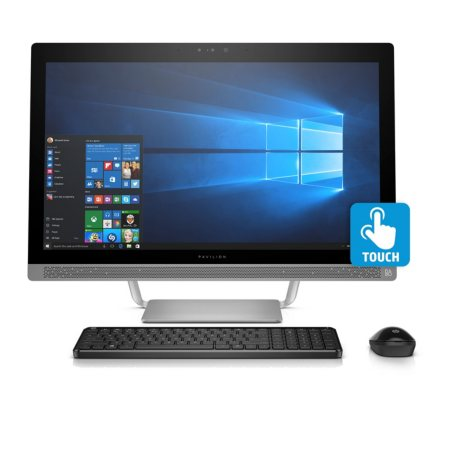 "HP Pavilion Touchscreen Full HD 23.8"" All-in-One Desktop, Intel Core i5-6400T Processor, 8GB Memory, 1TB Hard Drive, 2GB NVIDIA GT930MX GDDR5 Graphics, 10 Point Touch Display, B&O Sound, 3D IR Webcam, Wireless Keyboard and Mouse, Windows 10 Home"