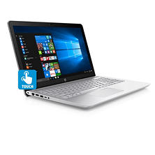 "HP Pavilion Touchscreen HD 15.6"" Notebook, Intel Core i5-7200U Processor, 8GB Memory, 1TB Hard Drive, Backlit Keyboard, B&O Play Sound, Optical Drive, HD Webcam, Windows 10 Home, Mineral Silver"
