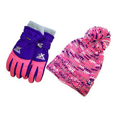 ZeroXposur Girls' Hat and Glove Set