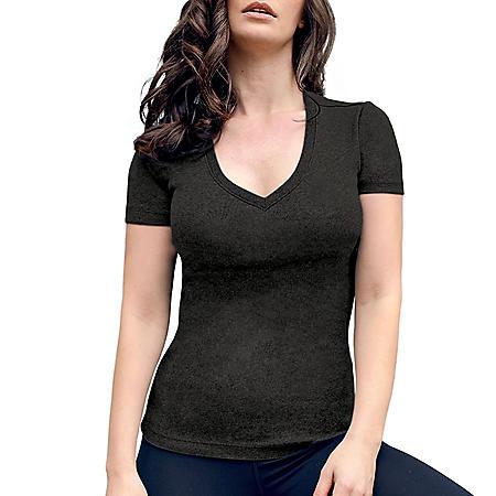 Member's Mark Women's Ribbed V-Neck T-Shirt