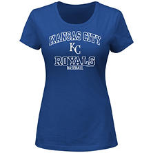 MLB - Women's Plus Size Kansas City Royals Short-Sleeve Scoop Tee