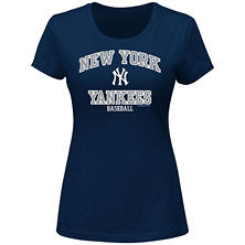 MLB - Women's Plus Size New York Yankees Short-Sleeve Scoop Tee