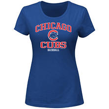 MLB - Women's Plus Size Chicago Cubs Short-Sleeve Scoop Tee