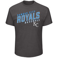 MLB - Men's Big & Tall Kansas City Royals Charcoal Short-Sleeve Tee
