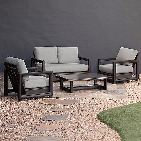 Royal Garden North Point Aluminum 4-Piece Patio Conversation Set